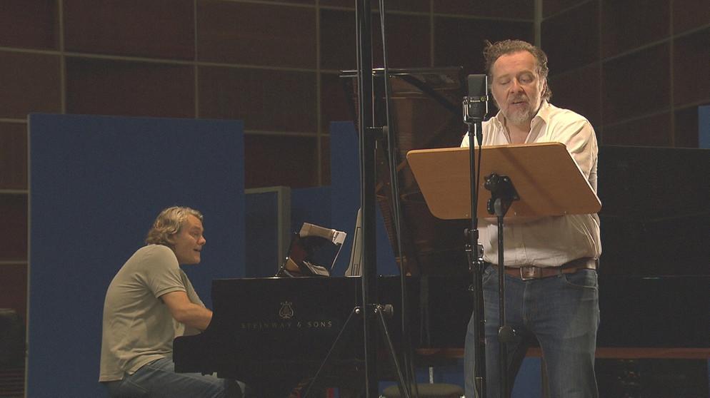 Christian Gerhaher und Gerold Huber bei den Aufnahmen | Bildquelle: BR