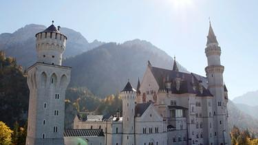 Blick auf Schloss Neuschwanstein | Bild: BR