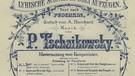 Peter Tschaikowsky: Eugen Onegin, Titelblatt des Klavierauszuges   Bild: picture alliance / akg